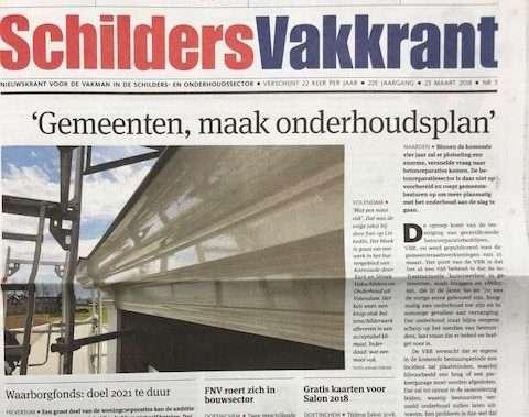Schilderproject haalt de krant